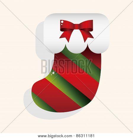 Christmas Stocking Theme Elements