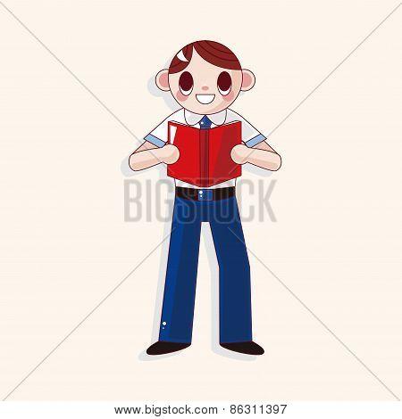 Student Cartoon Theme Elements