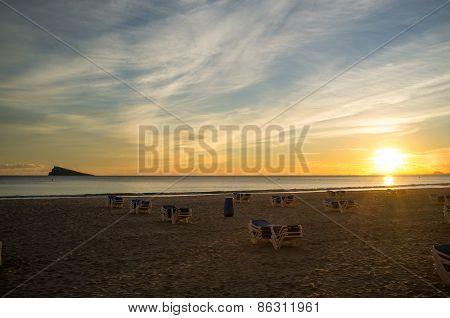Benidorm Beach And Island