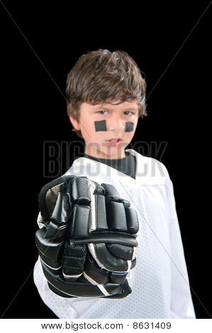 Chile Hockey Player With Glove