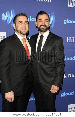 LOS ANGELES - MAR 21:  Jeff Zarrillo, Paul Katami at the 26th Annual GLAAD Media Awards at the Beverly Hilton Hotel on March 21, 2015 in Beverly Hills, CA