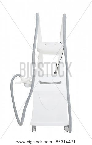 Apparatus for liposuction LPG isolated on white background