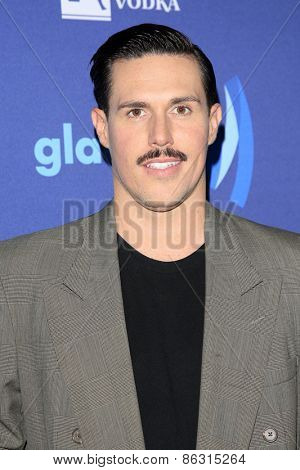 LOS ANGELES - MAR 21:  Sam Sparro at the 26th Annual GLAAD Media Awards at the Beverly Hilton Hotel on March 21, 2015 in Beverly Hills, CA