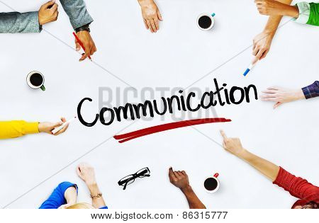 Multi-Ethnic Group of People and Communication Concepts