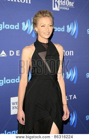 LOS ANGELES - MAR 21:  Portia deRossi at the 26th Annual GLAAD Media Awards at the Beverly Hilton Hotel on March 21, 2015 in Beverly Hills, CA