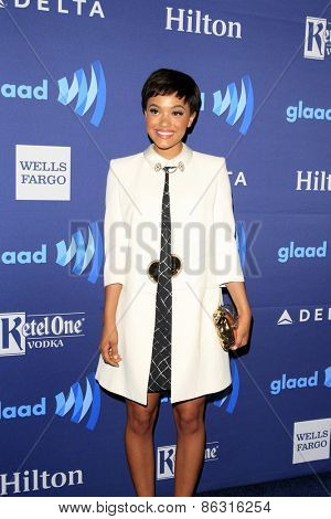 LOS ANGELES - MAR 21:  Kiersey Clemons at the 26th Annual GLAAD Media Awards at the Beverly Hilton Hotel on March 21, 2015 in Beverly Hills, CA