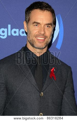 LOS ANGELES - MAR 21:  Murray Bartlett at the 26th Annual GLAAD Media Awards at the Beverly Hilton Hotel on March 21, 2015 in Beverly Hills, CA