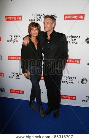 LOS ANGELES - MAR 23:  Lisa Rinna, Harry Hamlin at the 2015 Tribeca Film Festival Official Kick-off Party at the The Standard on March 23, 2015 in West Hollywood, CA