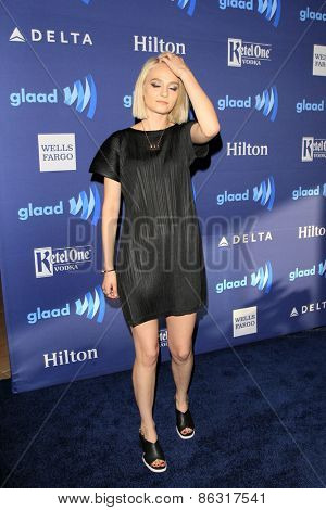 LOS ANGELES - MAR 21:  Clementine Creevy at the 26th Annual GLAAD Media Awards at the Beverly Hilton Hotel on March 21, 2015 in Beverly Hills, CA