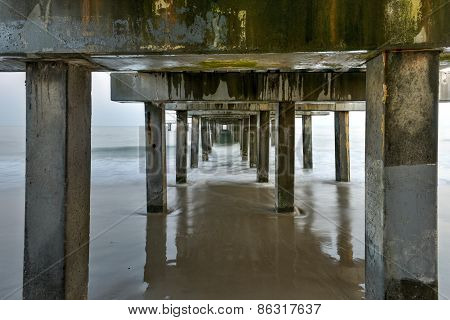 Under The Pier At The Beach