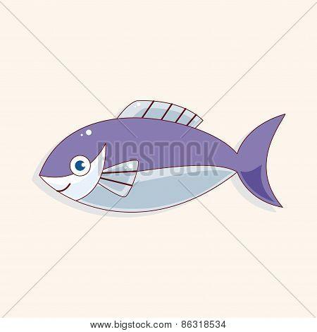 Fish Cartoon Theme Elements