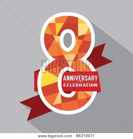 8Th Years Anniversary Celebration Design.