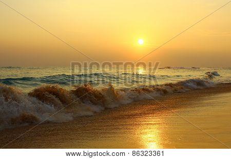 Evening beach Koggala, Sri Lanka