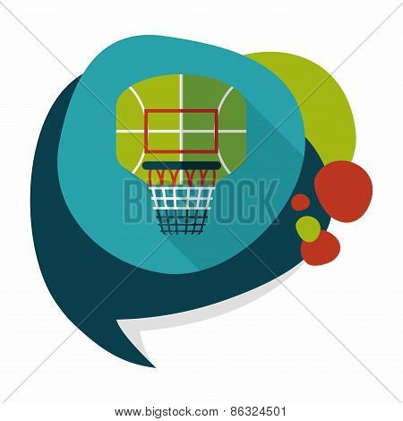 Basketball Backboard Flat Icon With Long Shadow,eps10