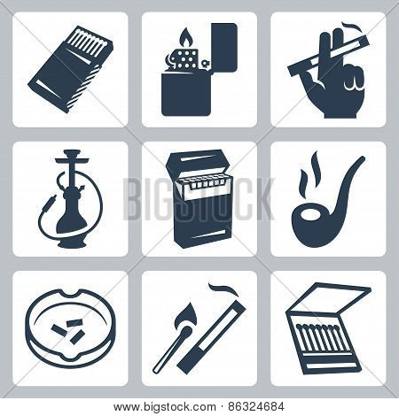 Smoking Related Vector Icons Set