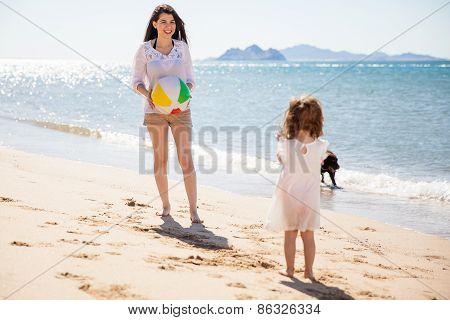 Having Fun With A Beach Ball