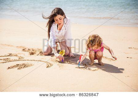Girl Enjoying A Day At The Beach