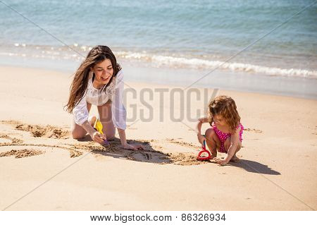 Single Mom With Her Daughter