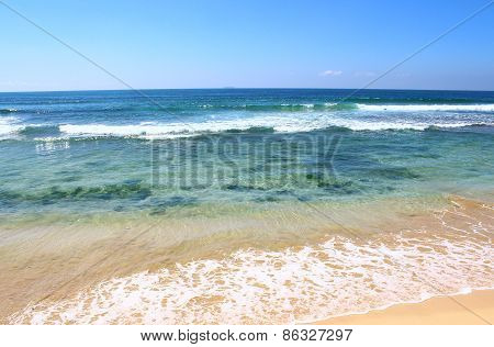 The clear water of the Indian ocean, the Koggala beach