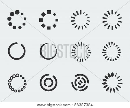 Loading Indicators Vector Icon Set