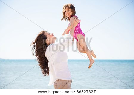 Lifting My Little Girl
