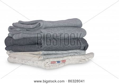 stack of clean clothes