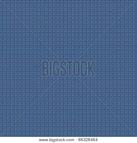 Seamless blue fabric texture background.