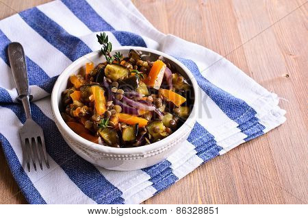Lentils Cooked With Vegetables