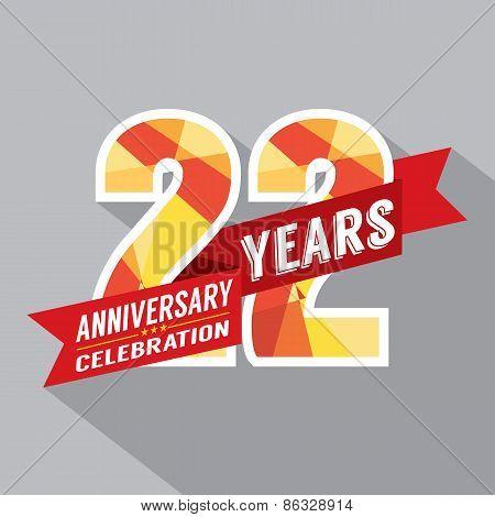 22Nd Years Anniversary Celebration Design.