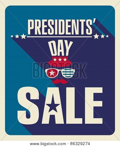 President s day retro background.