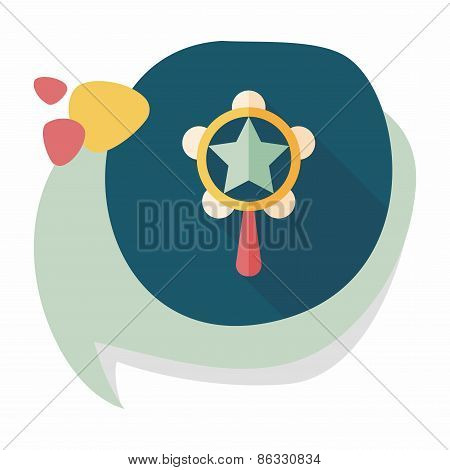 Baby Rattle Flat Icon With Long Shadow,eps10