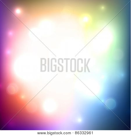 Colorful defocused lights background - eps10