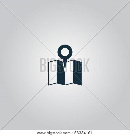 Flat location icon