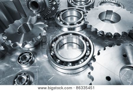 cogwheels and ball-bearings, aerospace engineering, titanium and steel