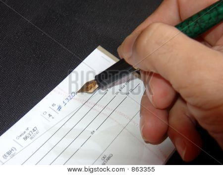 FIlling a check
