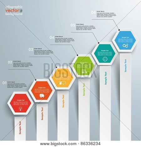 Hexagon Chart Growth Bars