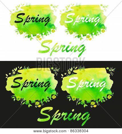Spring Watercolor Fill