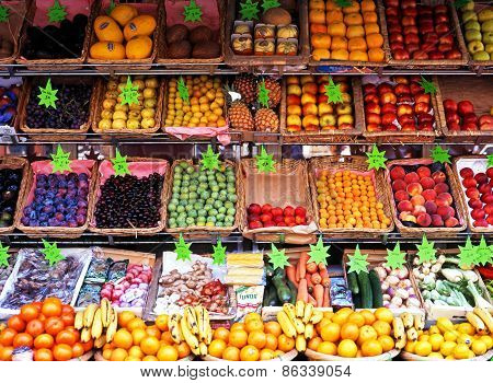 Fruit and veg stall, Paris.