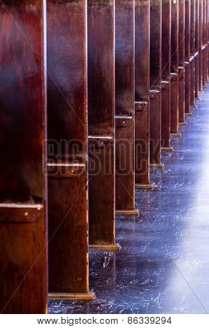 Wood Booths In Church