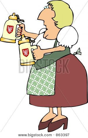 German Beer Maiden