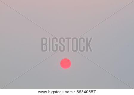 Sun And Blank Pastel Cloudless Sky, Vintage Style