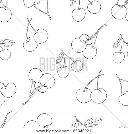 Delightful Garden - Seamless Pattern Of A Lot Of Cherries 2