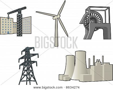 Industrial vector icons