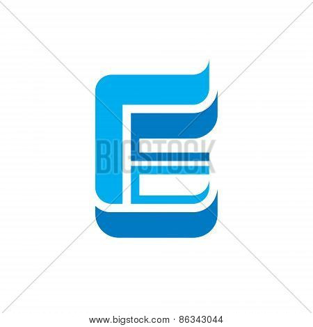 Letter E with wings - vector logo concept illustration. Letter E logotype. Abstract logo.