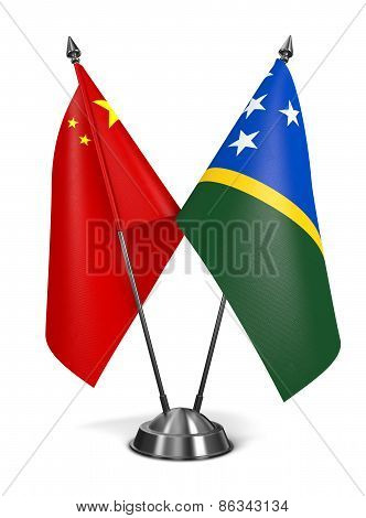 China and Solomon Islands - Miniature Flags.
