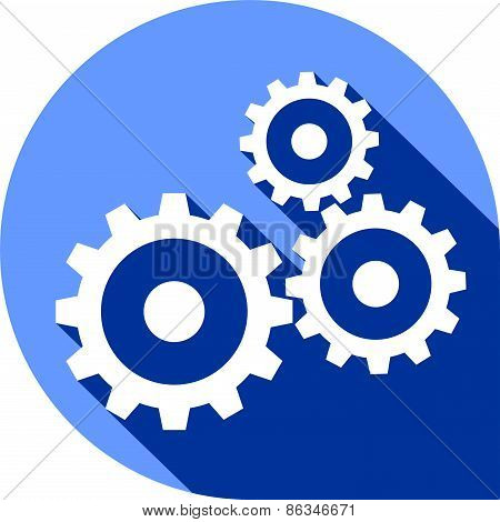 Flat icon - Gears