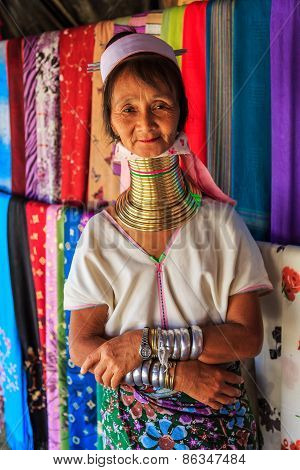 Long Neck Lady, Chiang Mai. Thailand