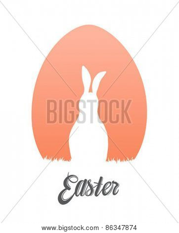 Digitally generated Easter egg and bunny vector