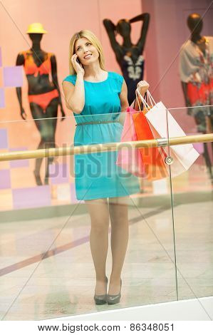 Shopaholic Woman.