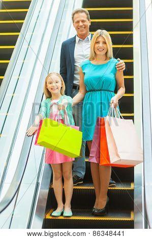 Family On Shopping Spree.
